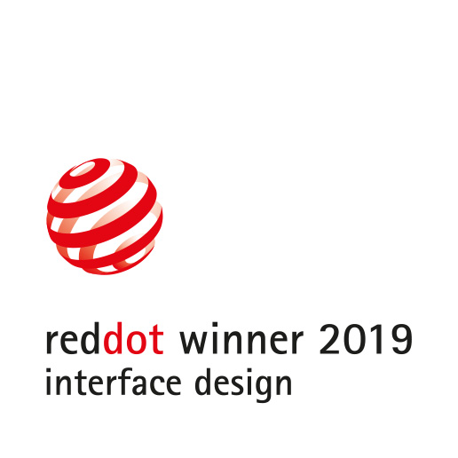 Red Dot winner 2019 - interface design